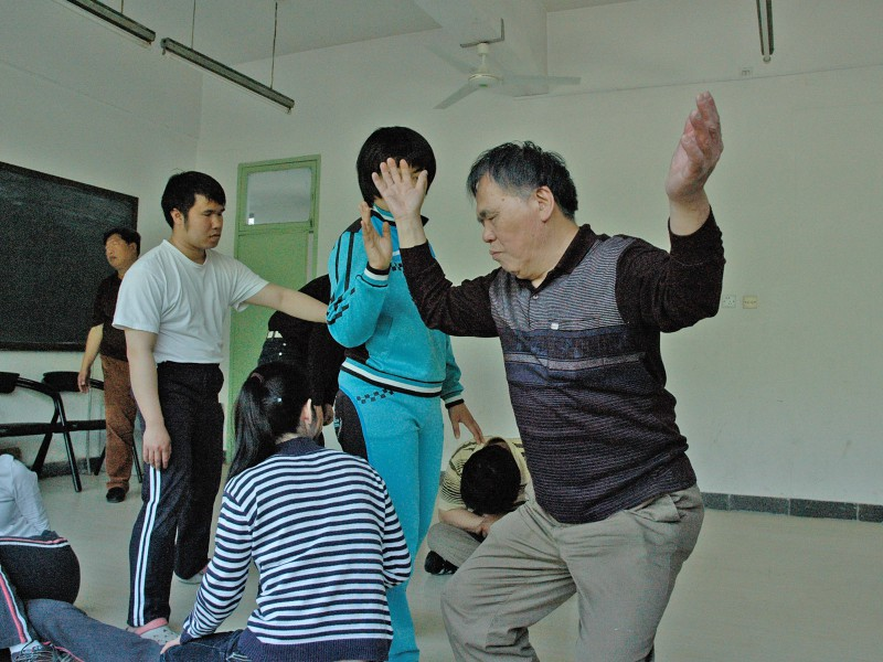 Blind actors in China